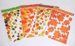 Dekorace okenní rohová 42x30 cm / Podzim.listí / 975