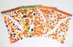 Dekorace okenní rohová 42x30 cm / Podzimní listí / 976