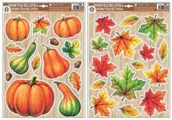 Dekorace okenní podzim s glitry 42x30 cm /986/