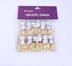 Kolíčky dekorační Shapes 07 kočka /171723/