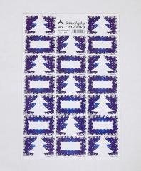 Samolepky na dárky  stromky - modré 821