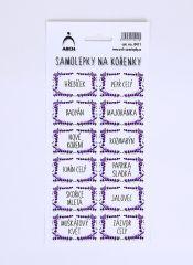 Samolepky na kořenky Levandulové 0411