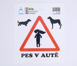 Samolepky Pes v autě /6201/