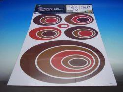 Samolepky pokoj. dekorace HNĚDÉ ELIPSY 70X42 cm /1060/
