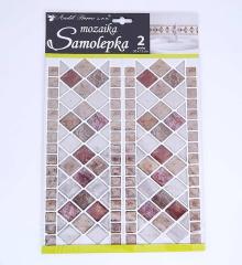 Samolepky pokoj. dekorace Mozaika, 2 pruhy /10200/