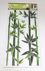 Samolepky pokoj. bambus zelený, 60x32 cm /1330/