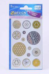 Samolepky Energising Květy života, transparent /55655/