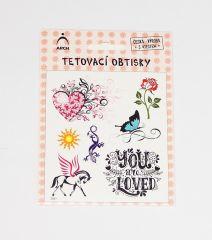 Samolepky tetování  Dívčí ornamenty 01 / 2591