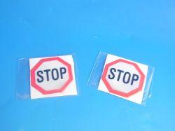 Samolepky dětské reflexní  STOP 186