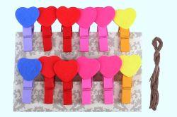 Kolíčky - Srdce / 12ks / 816261