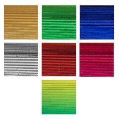Vlnitý karton B4 - mix alu 7 barev TFM-1014