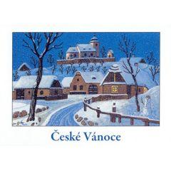 Vánoční pohled České Vánoce Josef Lada