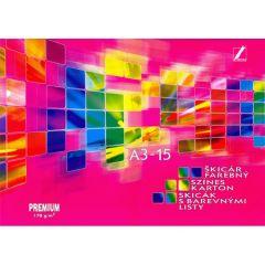 Skicák Premium A3 15l barevný