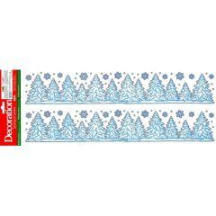 Vánoční fólie na okno 888963 bordura