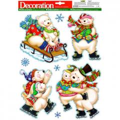 Vánoční samolepka na sklo 887539
