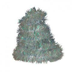 Vánoční řetěz stříbrný-holografický