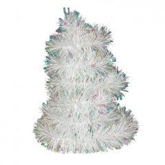 Vánoční řetěz bílý-holografický