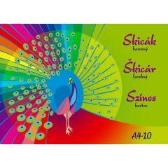Skicák A4 10l barevný