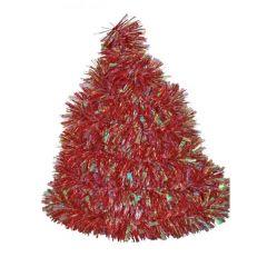 Vánoční řetěz červený-holografický