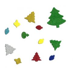 Vánoční samolepky - mix PVX03