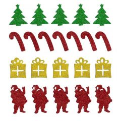 Vánoční samolepky - mix PVX19