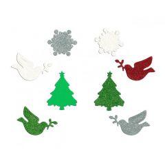 Vánoční samolepky - mix PVX08