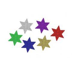 Samolepící hvězdy s brokátem PVX20