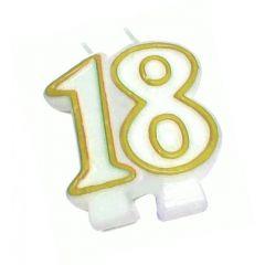 Svíčky dortové 18 zlatá