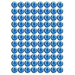Samolepící kamínky - modré 88 ks