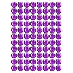 Samolepící kamínky - fialové 88 ks