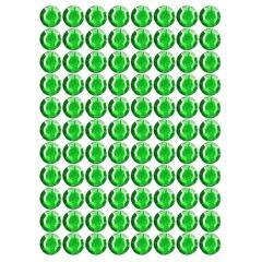 Samolepící kamínky - zelené 88 ks