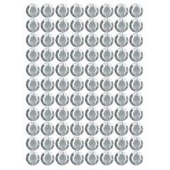 Samolepící kamínky - bílé 88 ks