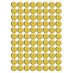 Samolepící kamínky - žluté 240 ks
