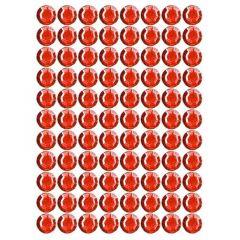 Samolepící kamínky - červené 140 ks