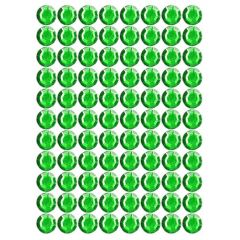 Samolepící kamínky - zelené 140 ks