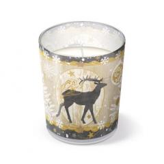 Vánoční svíčka ve skle Royal Deer