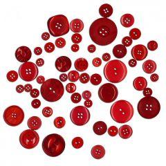 Dekorační knoflíky - červené