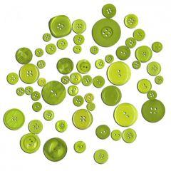 Dekorační knoflíky - zelené