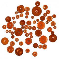 Dekorační knoflíky - oranžové