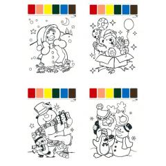 Omalovánky A4 s barvami