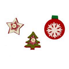 Vánoční samolepky filcové 751