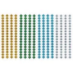Samolepící kamínky JET1601 - drahokamy