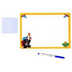 Stíratelná tabulka Krtek - žlutá