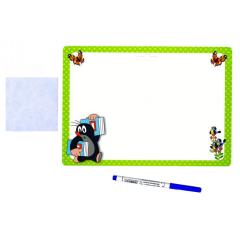 Stíratelná tabulka Krtek - zelená