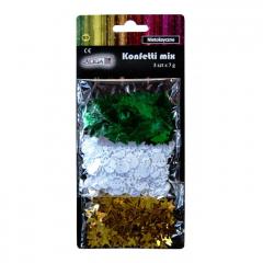 Dekorační konfety 3 druhy
