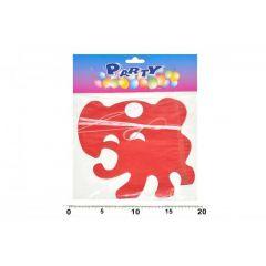 Girlanda papírová 4m slon