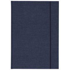 Skicák v deskách A5 s gumou modrý