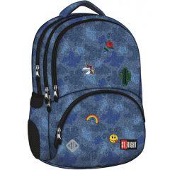 Studentský batoh St.Right Jeans & Badges BP07