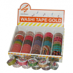 Washi páska vzorovaná - zlacená