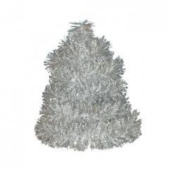 Vánoční řetěz stříbrný-tečkovaný